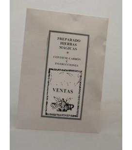 Ventas- Preparado hierbas y carbón