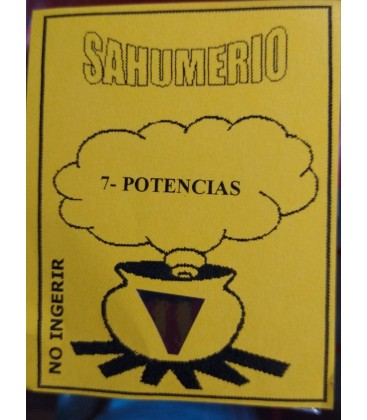 Venta de Sahumerio 7- potencias al mayor