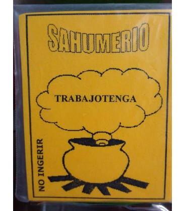 Venta de Sahumerio Trabajotenga al mayor