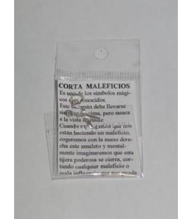 Corta maleficios, amuleto con instrucciones