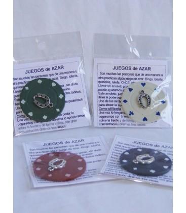 Juegos de azar, amuleto con instrucciones al por mayor