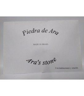 Piedra de Ara amuleto con instrucciones y oración