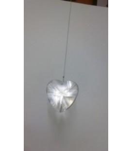 Corazón cristal facetado 28 mm, colgante engarzado