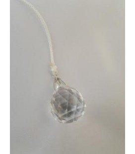 Péndulo bola cristal pequeño, con cordón