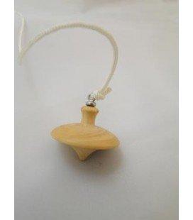 Péndulo platillo ( madera de boj ) con cordón y anilla