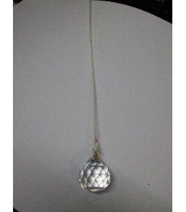 Péndulo bola cristal mediano con cordon