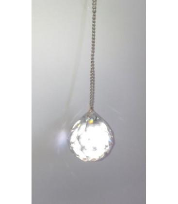 Venta de Péndulo bola cristal grande, con cadena plateada al mayor