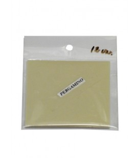 Pergamino cuadrado vegetal 7x7 cm paquete 12 unidades