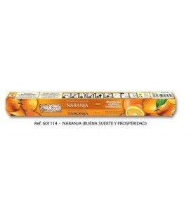 Incienso naranja varillas, 20 stick ( Buena suerte y prosperidad )