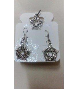 Tetragramatón (pendientes y colgante)