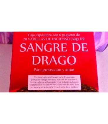 Incienso Sangre de drago, varillas 20 unidades al por mayor