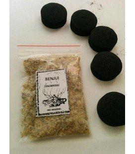 Benjuí en grano ( 30 gr aprx ) con 5 carbones instantáneos Kid
