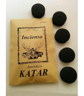 Incienso Katar ( 50 gr aprx ) con 5 carbones instantáneos Kid