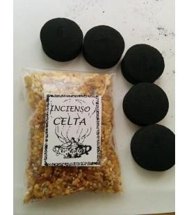 Incienso celta en grano ( 50 gr aprx ) con 5 carbones instantáneos Kid