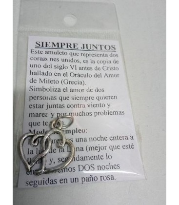 Siempre juntos, amuleto con intrucciones