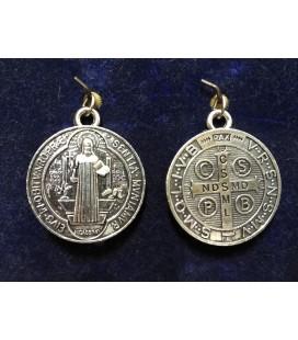 Medalla san Benito, 3 cm de diámetro, ( grande )