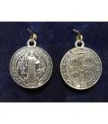 Medalla san Benito, 4 cm de diámetro,