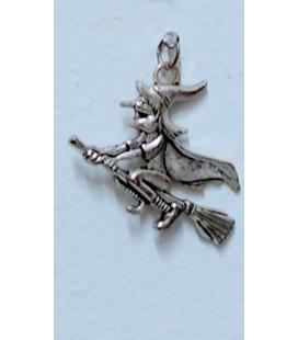 Bruja de la suerte, 3,50 cm x 3,50 cm ( colgante con cordón cuero 45 cm de largo) con instruccion