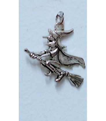 Bruja de la suerte, 3,50 cm x 3,50 cm ( colgante con cordón cuero 45 cm de largo) con instruccion al por mayor