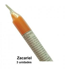 Vela arcángel/ángel Zacariel con oración ( pack 3 unidades )