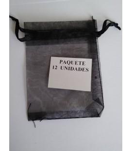 Bolsa Negra, amuletos, piedras y resguardos -12 unidades ( 9 x 7 cm ) al por mayor