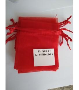 Bolsa Roja, amuletos, piedras y resguardos -12 unidades ( 9 x 7 cm ) al por mayor