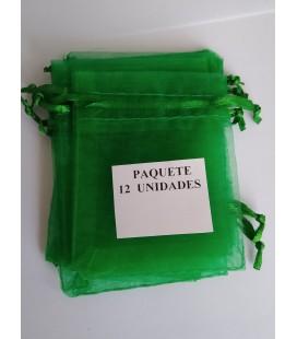 Bolsa Verde, amuletos, piedras y resguardos -12 unidades ( 9 x 7 cm ) al por mayor