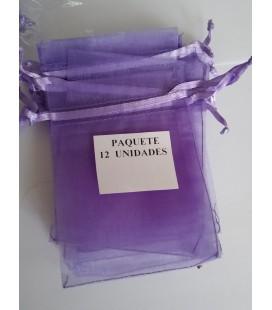 Bolsa Lila, amuletos, piedras y resguardos -12 unidades ( 9 x 7 cm ) al por mayor