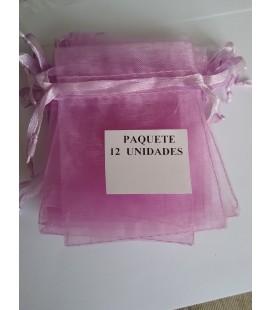 Bolsa Rosa, amuletos, piedras y resguardos -12 unidades ( 9 x 7 cm ) al por mayor