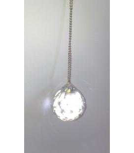 Péndulo bola cristal mediano con cadena, 30 mm diámetro al por mayor
